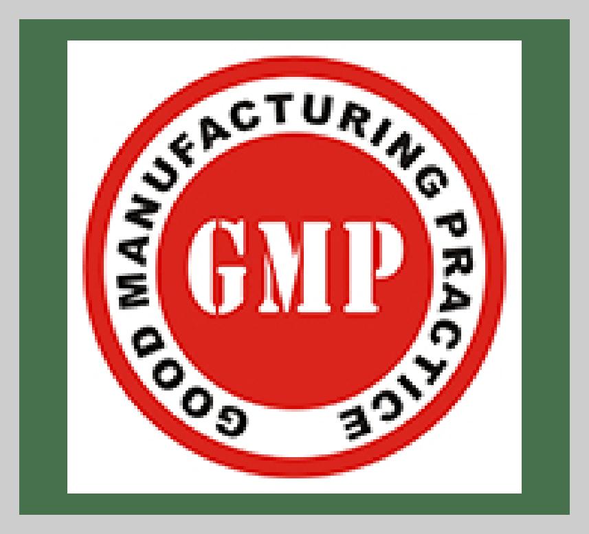 GMP Good Manufacturing practice Certificate PJM Unjha