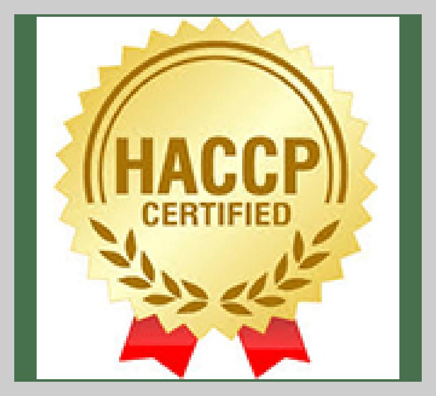 HACCP Certificate PJM Unjha