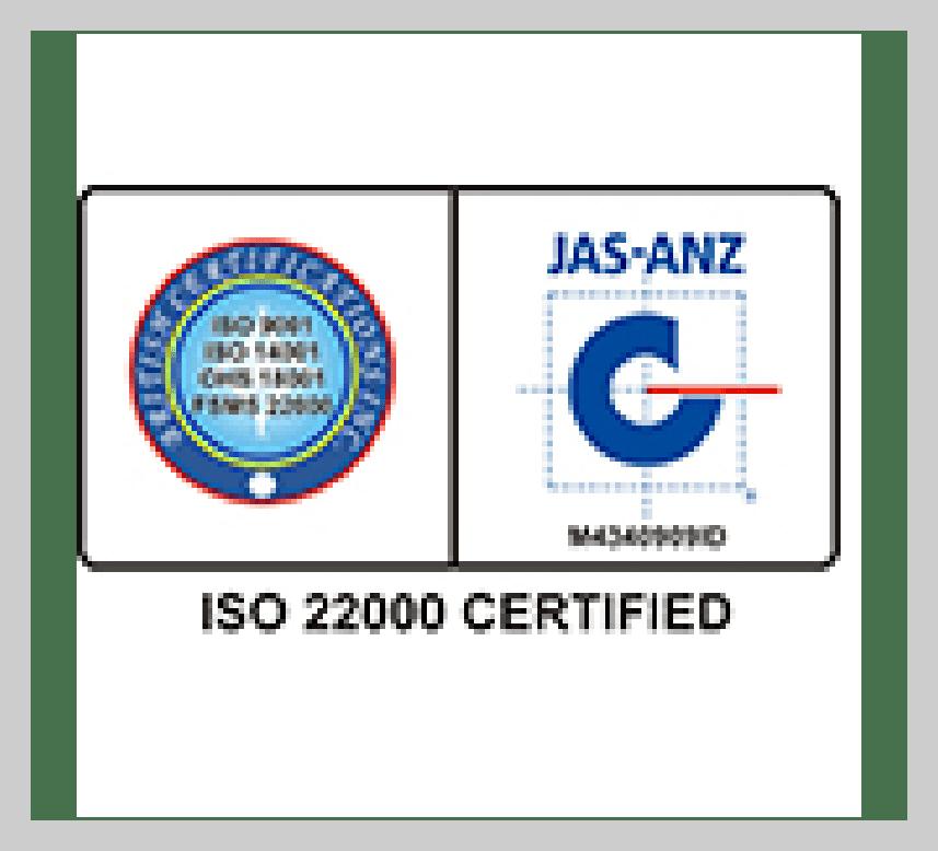IOS 22000 Certificate PJM Unjha